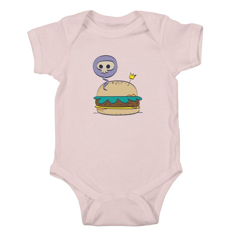 Death Burger Kids Baby Bodysuit by thiagoegg's Artist Shop