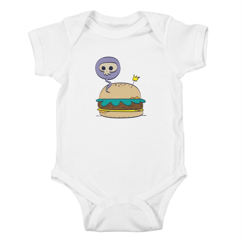 Death Burger Kids Baby Bodysuit by thiagoegg's Artist Shop