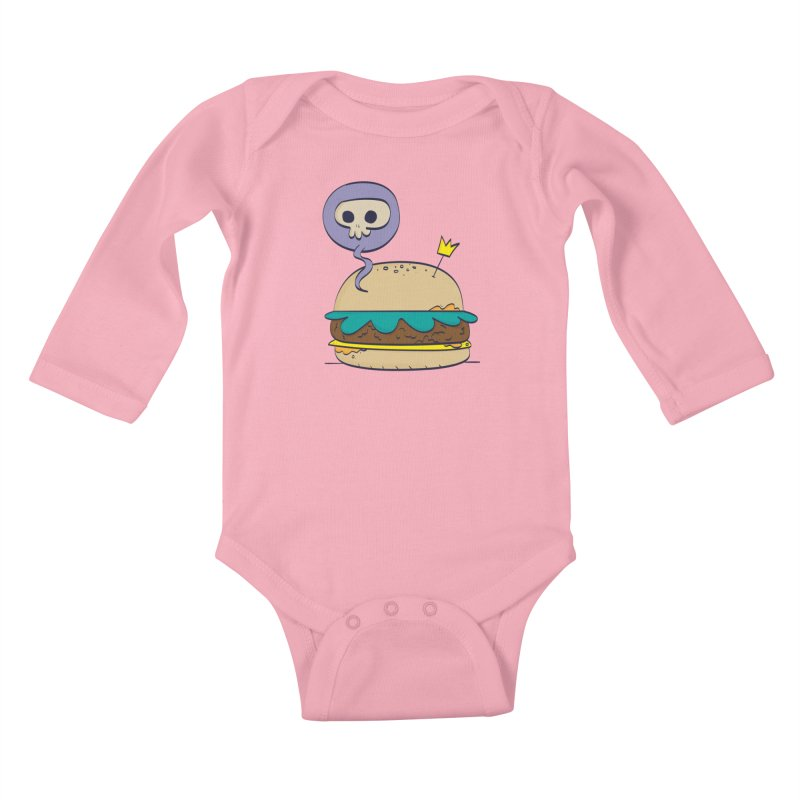 Death Burger Kids Baby Longsleeve Bodysuit by thiagoegg's Artist Shop