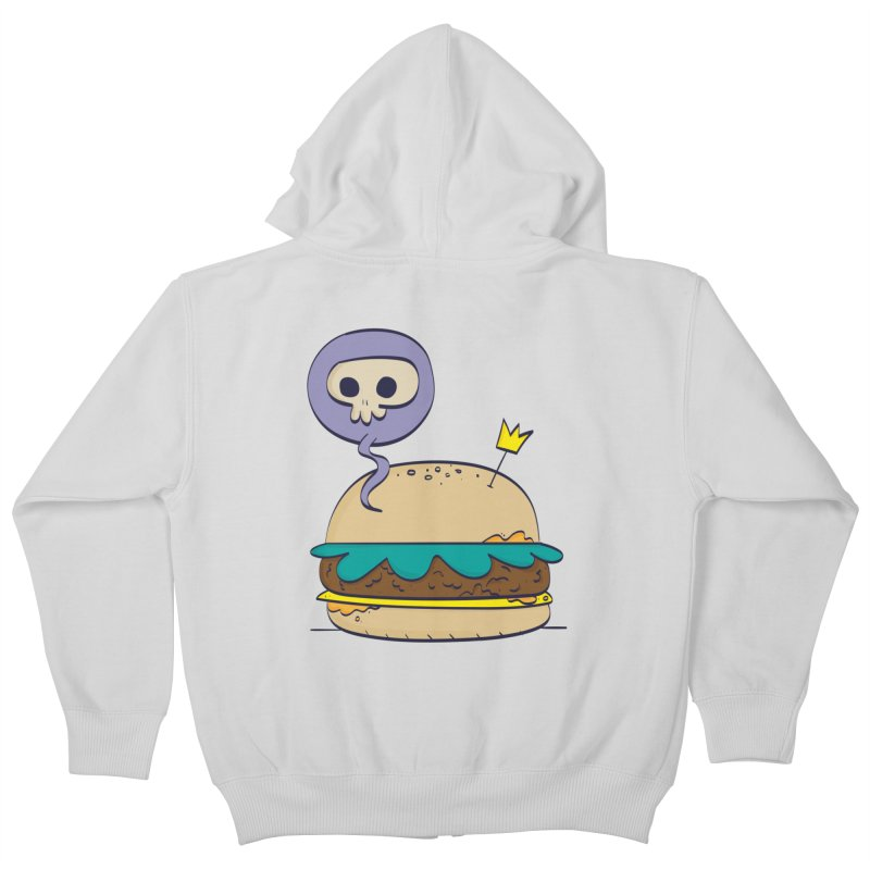 Death Burger Kids Zip-Up Hoody by thiagoegg's Artist Shop