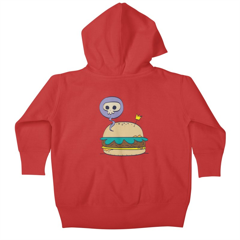 Death Burger Kids Baby Zip-Up Hoody by thiagoegg's Artist Shop