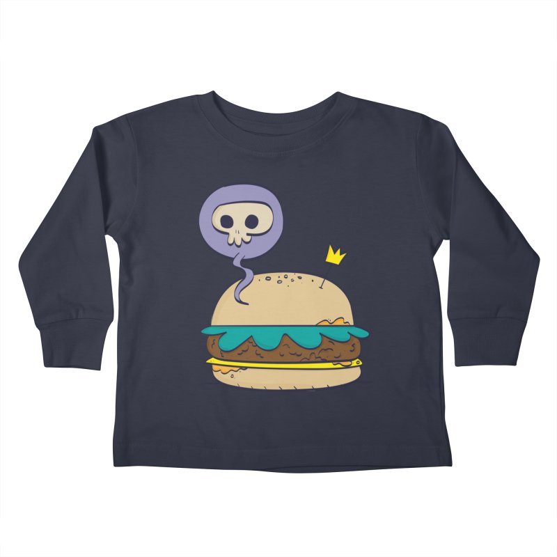 Death Burger Kids Toddler Longsleeve T-Shirt by thiagoegg's Artist Shop