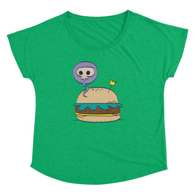 Death Burger Women's Dolman Scoop Neck by thiagoegg's Artist Shop