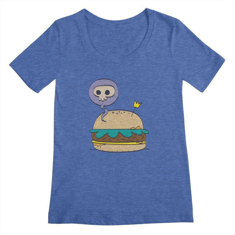Death Burger Women's Regular Scoop Neck by thiagoegg's Artist Shop