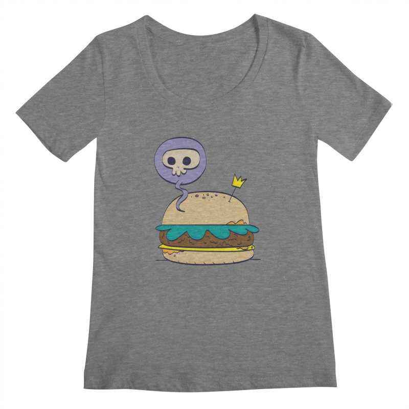 Death Burger Women's Scoopneck by thiagoegg's Artist Shop