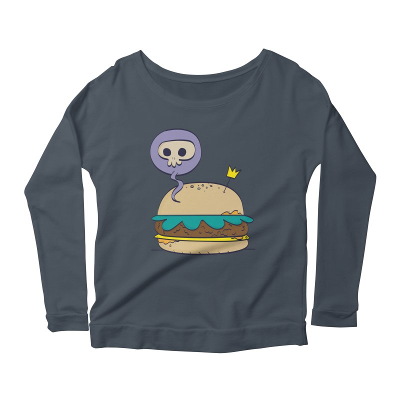 Death Burger Women's Longsleeve Scoopneck  by thiagoegg's Artist Shop