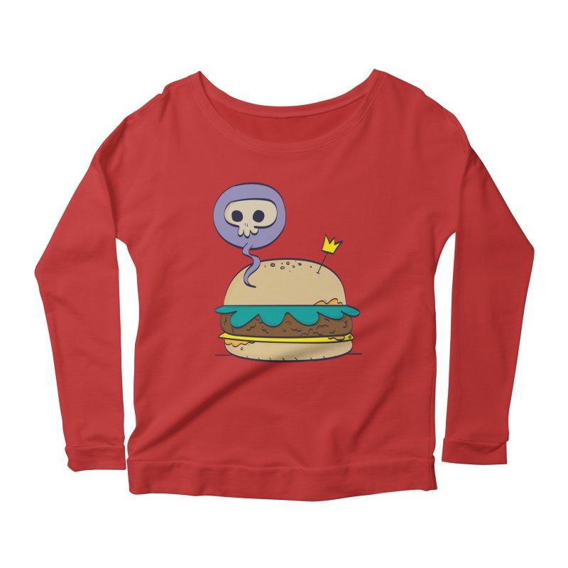 Death Burger Women's Scoop Neck Longsleeve T-Shirt by thiagoegg's Artist Shop