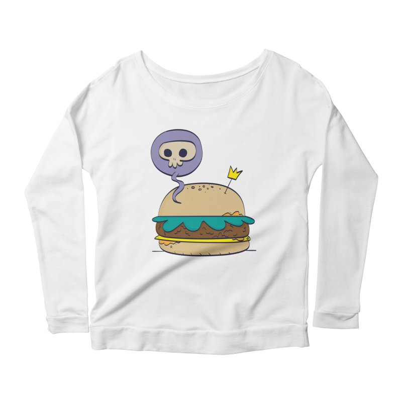 Death Burger Women's Longsleeve Scoopneck  by thiagoegg's Artist Shop