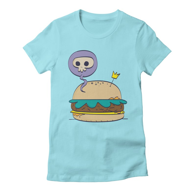Death Burger Women's Fitted T-Shirt by thiagoegg's Artist Shop