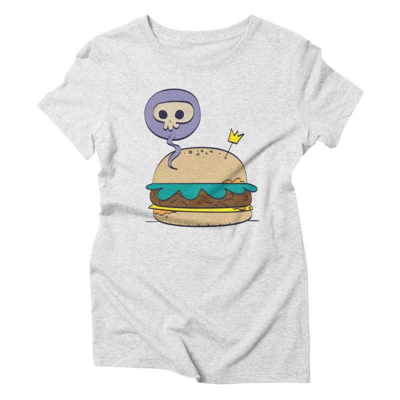Death Burger Women's Triblend T-Shirt by thiagoegg's Artist Shop