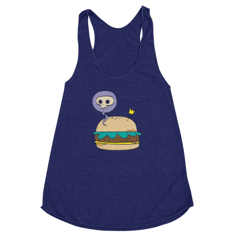 Death Burger Women's Racerback Triblend Tank by thiagoegg's Artist Shop