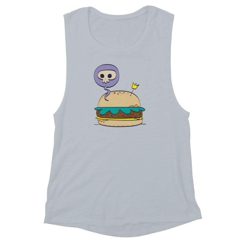 Death Burger Women's Muscle Tank by thiagoegg's Artist Shop
