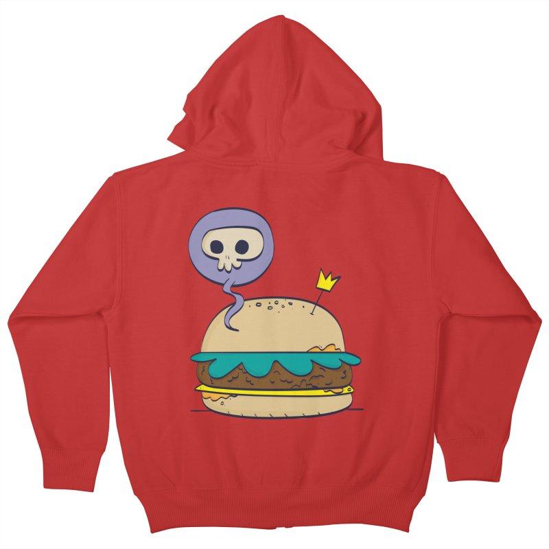 Death Burger Kids Zip-Up Hoody by thiagoegg's Artist Shop