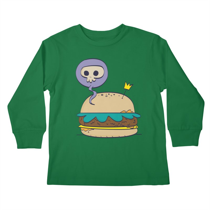 Death Burger Kids Longsleeve T-Shirt by thiagoegg's Artist Shop
