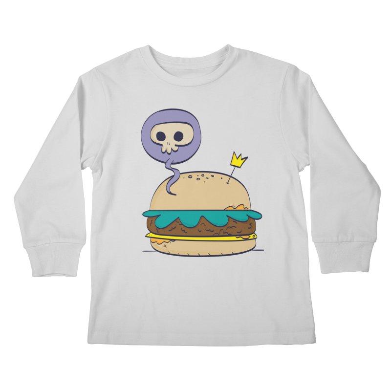 Death Burger Kids Longsleeve T-Shirt by thiagoegg's Artist Shop