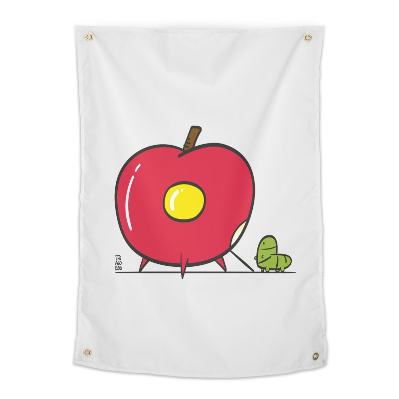 rocket apple Home Tapestry by thiagoegg's Artist Shop