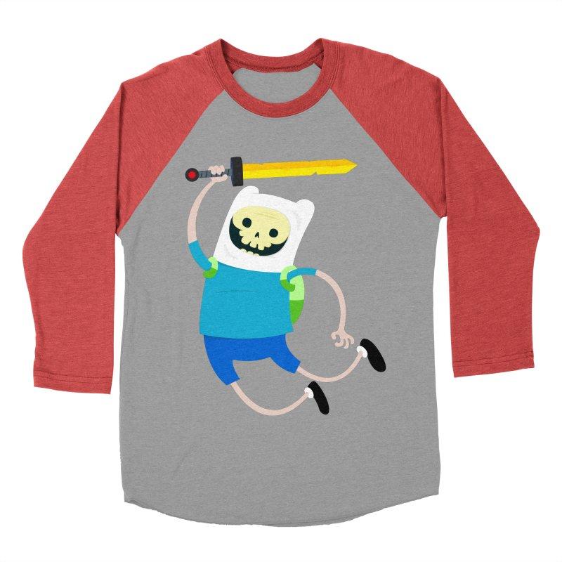 Finn the Skull Men's Baseball Triblend Longsleeve T-Shirt by thiagoegg's Artist Shop