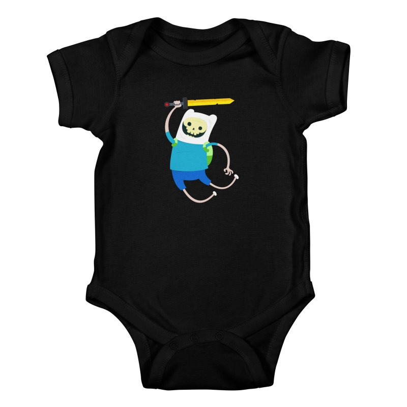 Finn the Skull Kids Baby Bodysuit by thiagoegg's Artist Shop