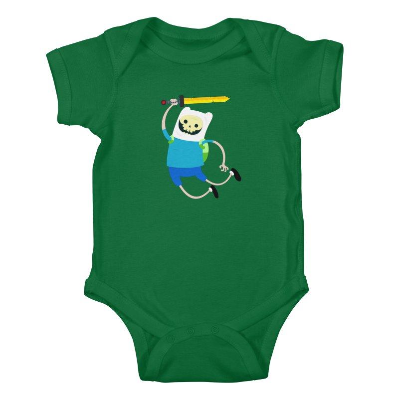 Finn the Skull Kids Baby Bodysuit by thiagoegg's Artist Shop
