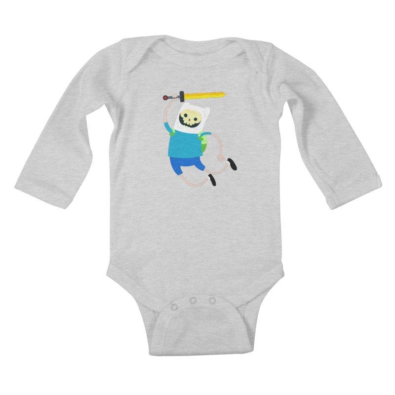 Finn the Skull Kids Baby Longsleeve Bodysuit by thiagoegg's Artist Shop