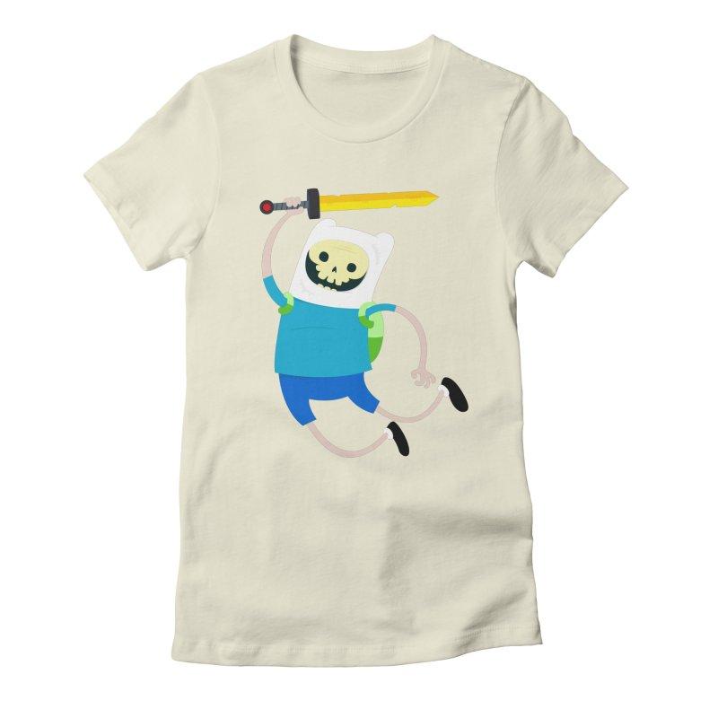 Finn the Skull Women's Fitted T-Shirt by thiagoegg's Artist Shop