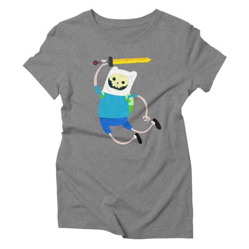 Finn the Skull Women's Triblend T-Shirt by thiagoegg's Artist Shop