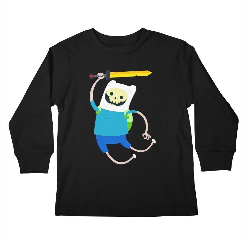 Finn the Skull Kids Longsleeve T-Shirt by thiagoegg's Artist Shop