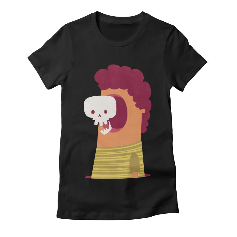 Out Women's Fitted T-Shirt by thiagoegg's Artist Shop