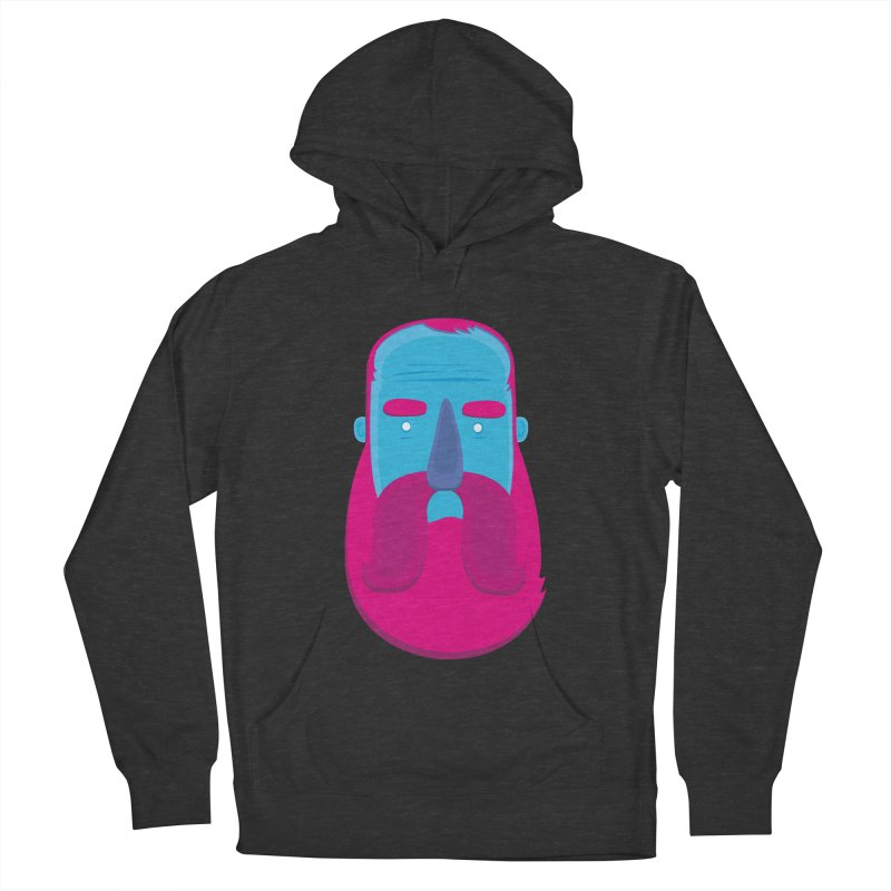 Beard Women's French Terry Pullover Hoody by thiagoegg's Artist Shop