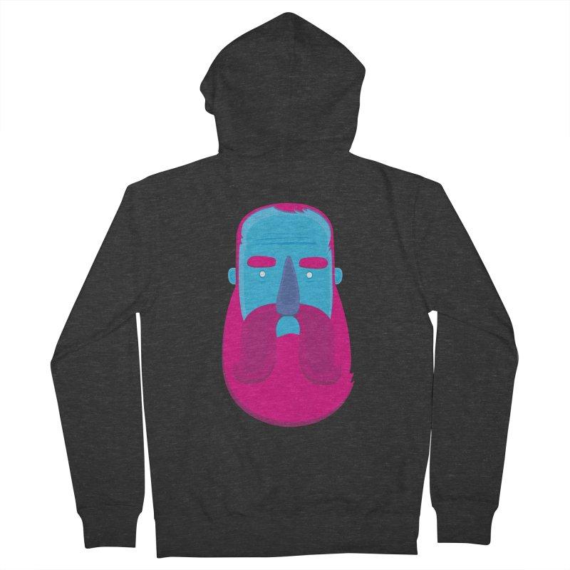 Beard Women's French Terry Zip-Up Hoody by thiagoegg's Artist Shop
