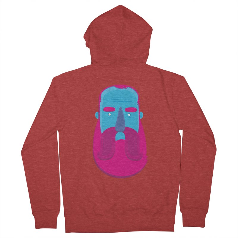 Beard Women's Zip-Up Hoody by thiagoegg's Artist Shop