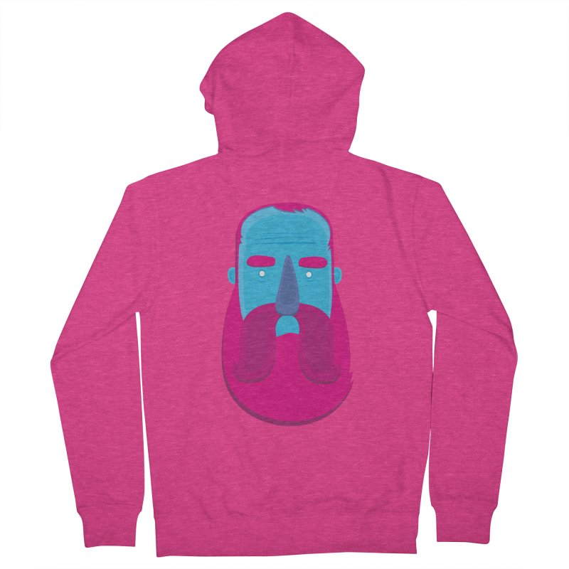 Beard Women's Zip-Up Hoody by thiagoegg's Artist Shop
