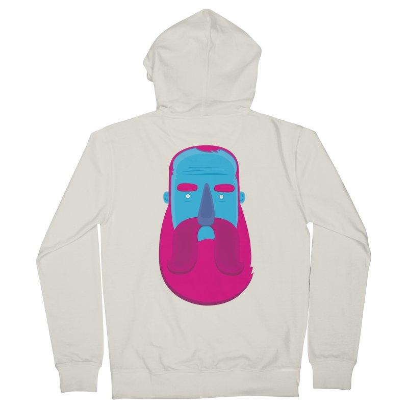 Beard Men's French Terry Zip-Up Hoody by thiagoegg's Artist Shop