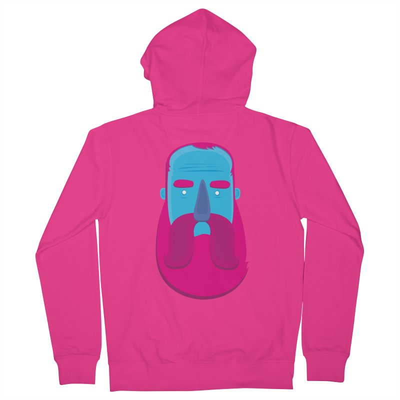 Beard Men's Zip-Up Hoody by thiagoegg's Artist Shop