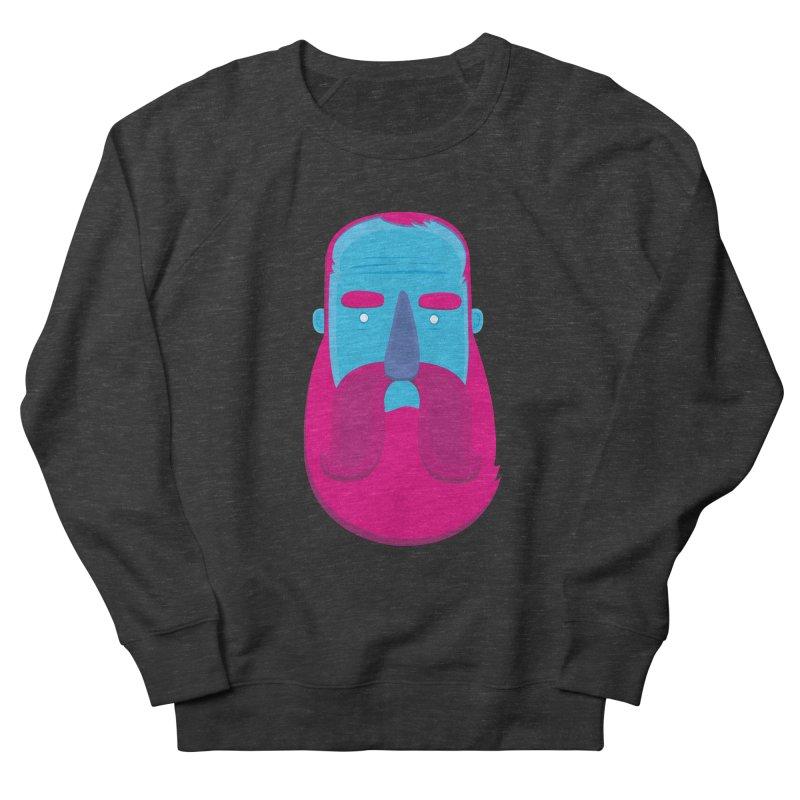 Beard Men's French Terry Sweatshirt by thiagoegg's Artist Shop