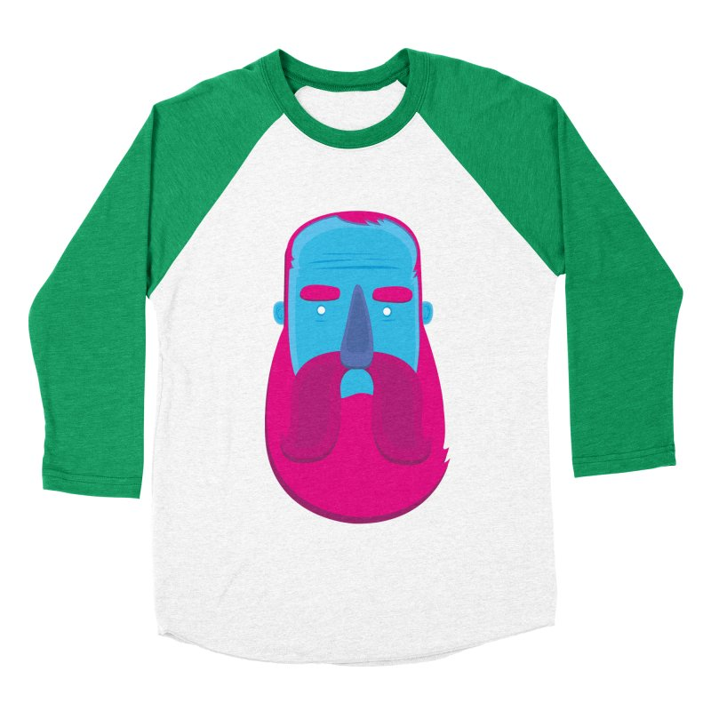 Beard Men's Baseball Triblend Longsleeve T-Shirt by thiagoegg's Artist Shop