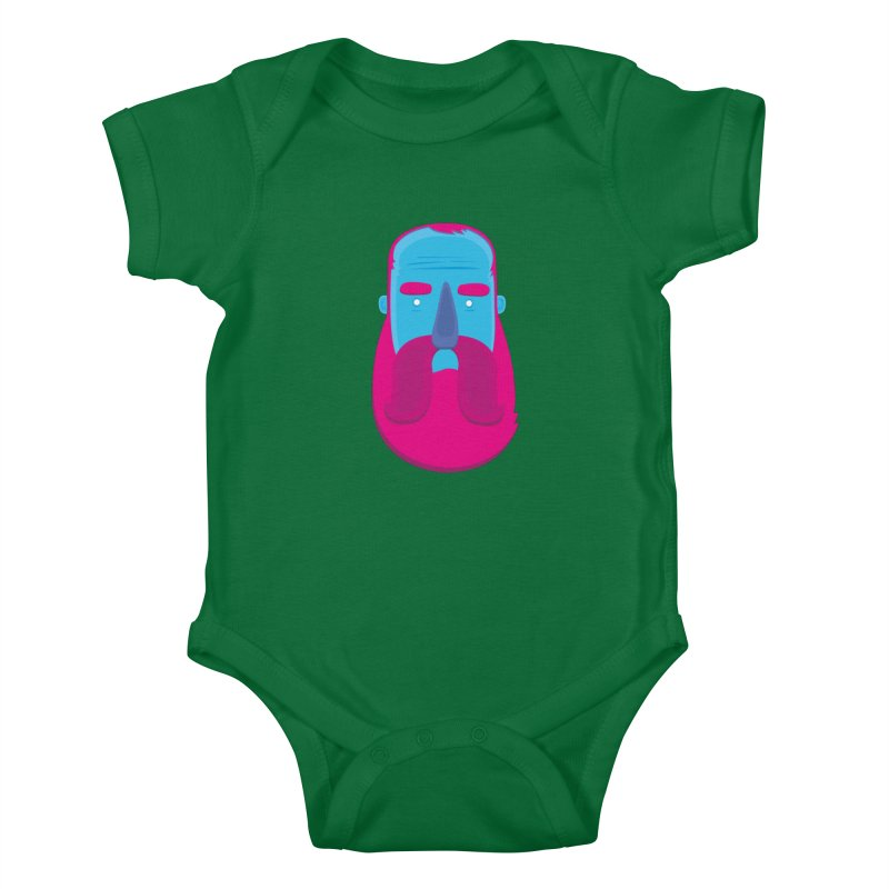 Beard Kids Baby Bodysuit by thiagoegg's Artist Shop