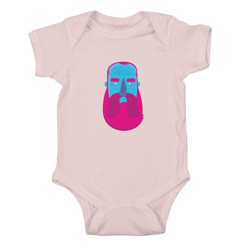 Beard Kids Baby Bodysuit by thiagoegg's Artist Shop