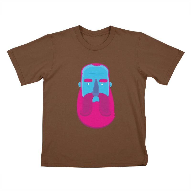 Beard Kids T-Shirt by thiagoegg's Artist Shop