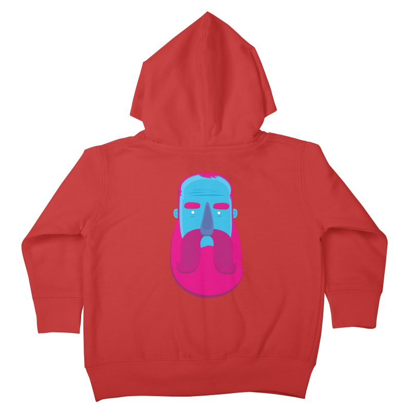 Beard Kids Toddler Zip-Up Hoody by thiagoegg's Artist Shop