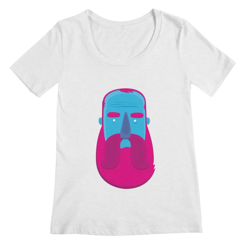 Beard Women's Scoopneck by thiagoegg's Artist Shop