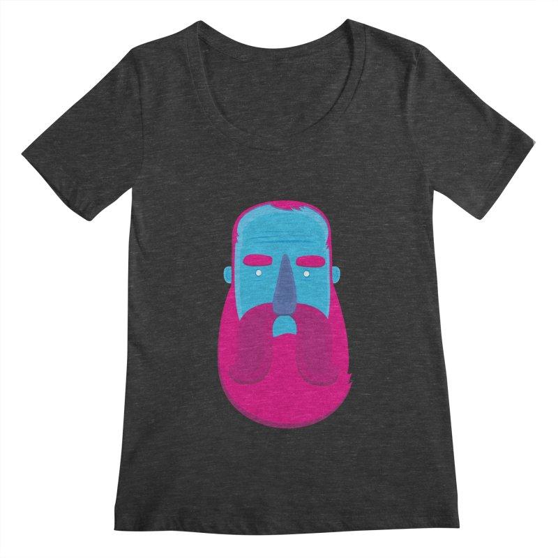 Beard Women's Scoopneck by thiagoegg's Artist Shop
