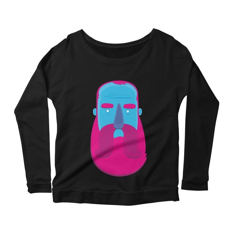 Beard Women's Longsleeve Scoopneck  by thiagoegg's Artist Shop