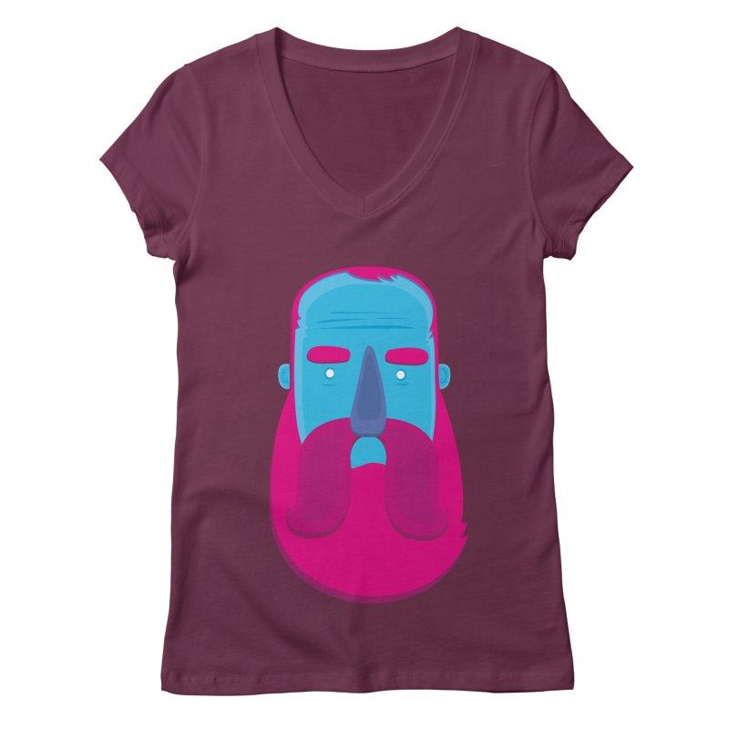 Beard Women's Regular V-Neck by thiagoegg's Artist Shop