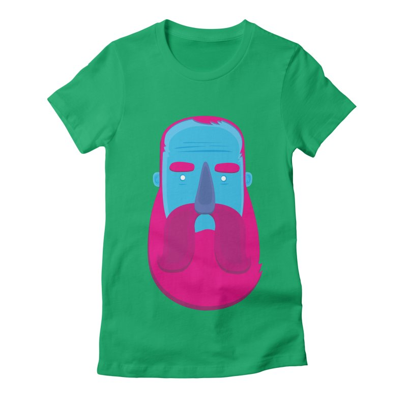 Beard Women's Fitted T-Shirt by thiagoegg's Artist Shop