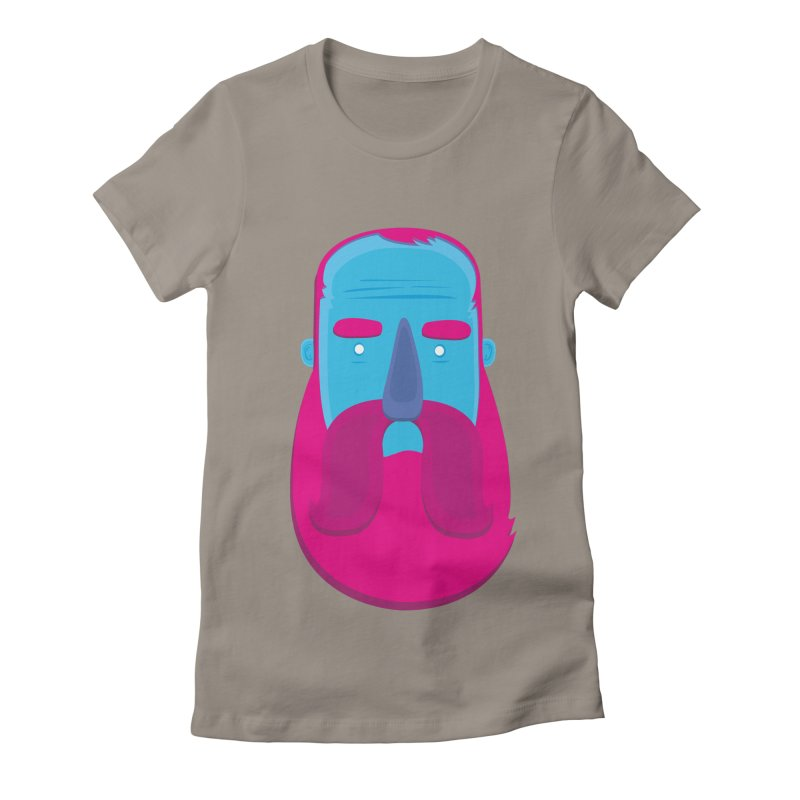 Beard Women's Fitted T-Shirt by thiagoegg's Artist Shop