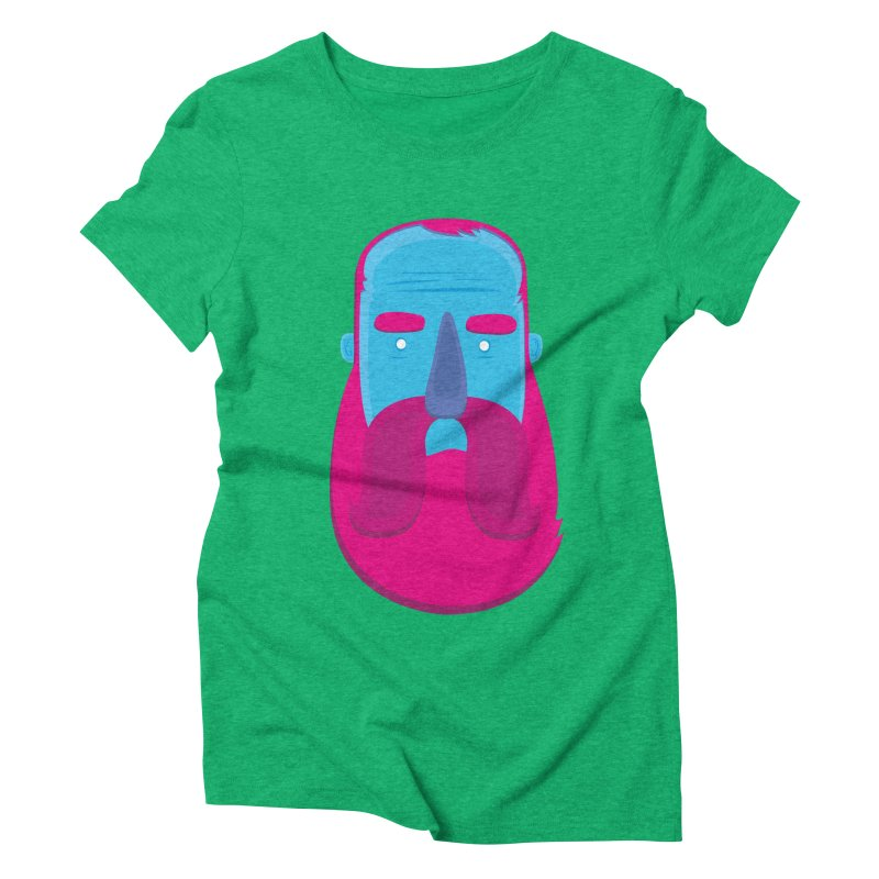 Beard Women's Triblend T-Shirt by thiagoegg's Artist Shop