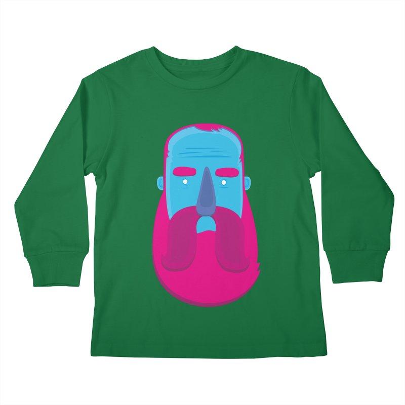 Beard Kids Longsleeve T-Shirt by thiagoegg's Artist Shop