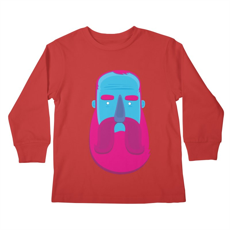Beard Kids Longsleeve T-Shirt by thiagoegg's Artist Shop