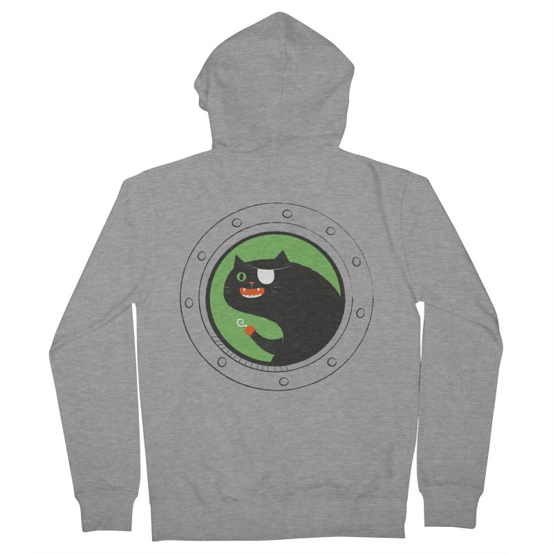 Pirate Cat Men's French Terry Zip-Up Hoody by thiagoegg's Artist Shop